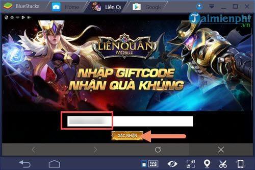 code lien quan mobile nhap giftcode tan thu lien quan 6