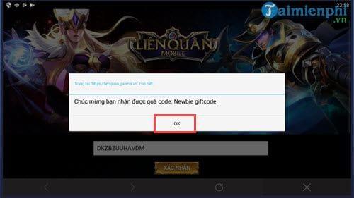 code lien quan mobile nhap giftcode tan thu lien quan 7