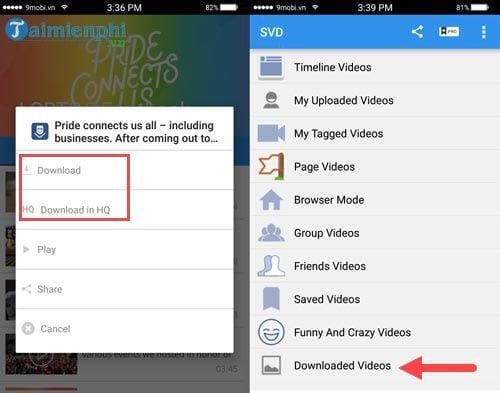 Hướng dẫn tải Video trên Facebook về điện thoại iPhone, Android