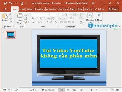 cach chen video youtube vao powerpoint bai thuyet trinh 8