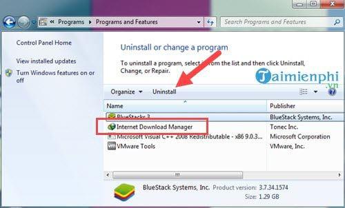 Cách gỡ IDM, Internet Download Manager 7