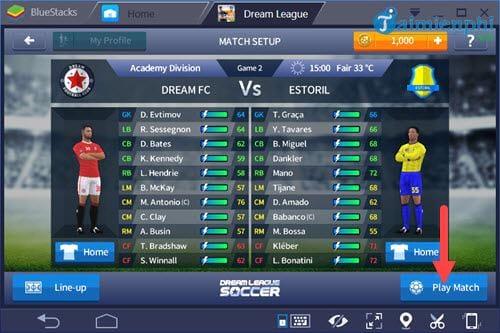 Cách chơi Dream League Soccer, chơi game đá bóng Dream League Soccer
