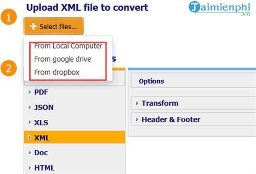 Cách chuyển file XML sang PDF không cần phần mềm, chuyển trực tuyến 3