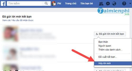 Mẹo hủy lời mời kết bạn trên Facebook hàng loạt