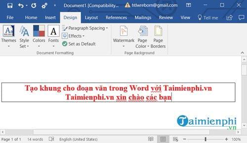 Cách tạo khung cho đoạn văn bản trong Word 3