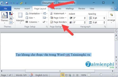 Cách tạo khung cho đoạn văn bản trong Word 4