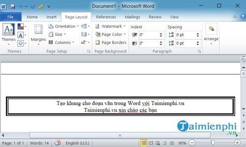 Cách tạo khung cho đoạn văn bản trong Word 6