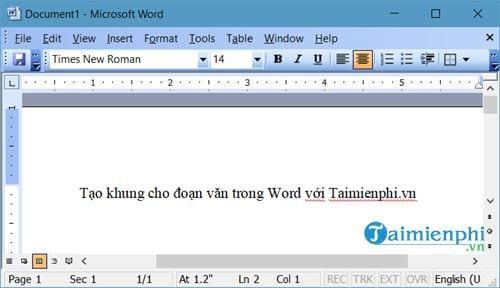 Cách tạo khung cho đoạn văn bản trong Word 7