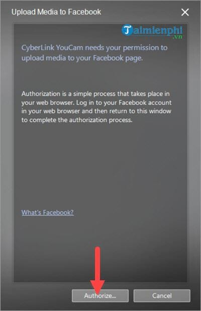 Connect to the youtube facebook account on cyberlink youcam 14