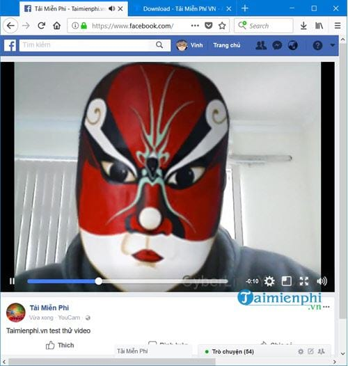 Connect to the youtube facebook account on cyberlink youcam 20