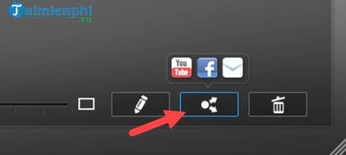 Connect to the youtube facebook account on cyberlink youcam 5
