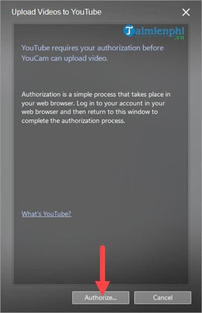 Connect to the youtube facebook account on cyberlink youcam 6