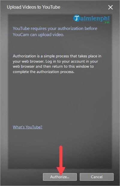 Kết nối Youtube, Facebook trên CyberLink YouCam, chia sẻ
