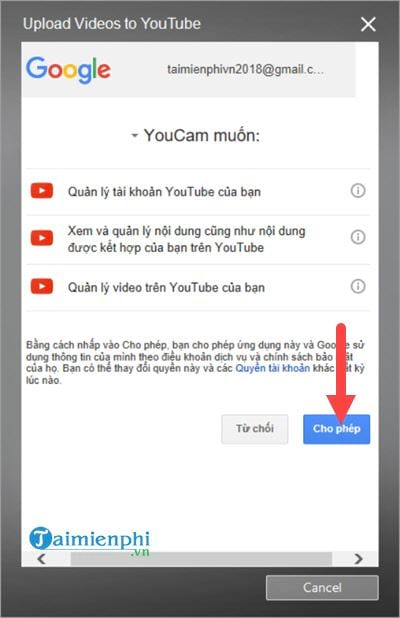 Connect to the youtube facebook account on cyberlink youcam 9