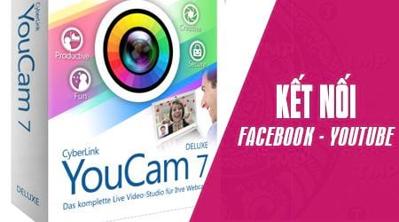 Connect to the youtube facebook account on the cyberlink youcam