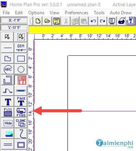Cách vẽ sơ đồ nhà, thiết kế nhà bằng Home Plan Pro 7