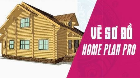 Cách vẽ sơ đồ nhà, thiết kế nhà bằng Home Plan Pro
