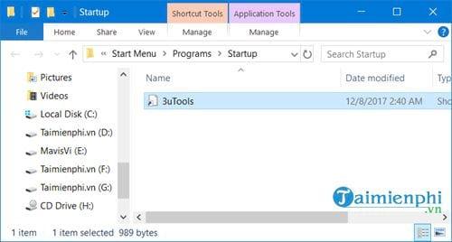 Cách tắt các chương trình khởi động cùng Windows 10 8