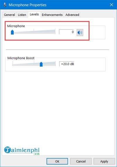 Kiểm tra Microphone, Headphone trên Windows 10, 8, 7 16