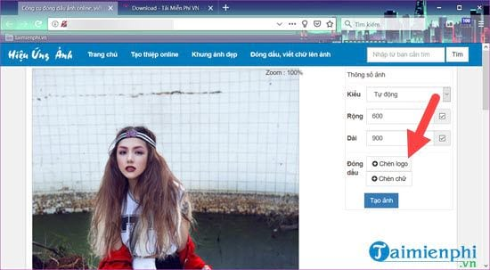 How to insert logo into online photos on online 4