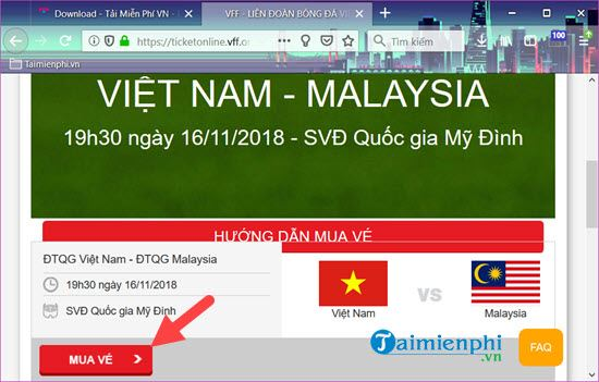 How to buy back to watch the Vietnam Cup 2018 contest at my palace 4