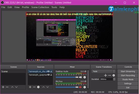 I kept running when I filmed the computer screen bang obs 11