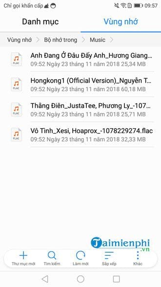 How to convert songs on zing mp3 to a music folder on Android 6