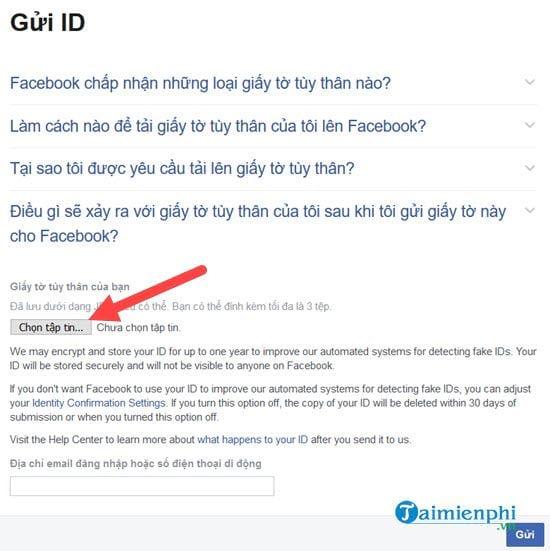 mo khoa facebook bat xac dinh danh tinh
