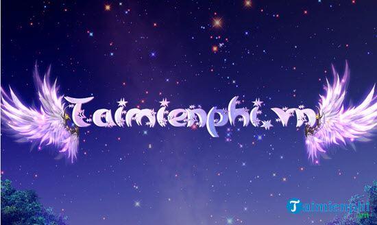 Hướng dẫn tạo hiệu ứng chữ galaxy cánh thiên thần mới