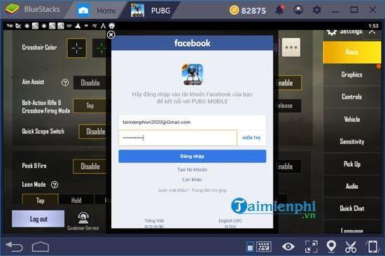 Hướng dẫn liên kết Facebook với tài khoản PUBG Mobile VN