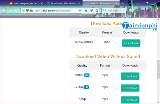 how to download video from reddit with audio
