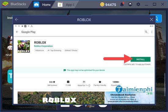 Chơi RobLox trên PC, sử dụng giả lập android Bluestacks chơi RobLox PC