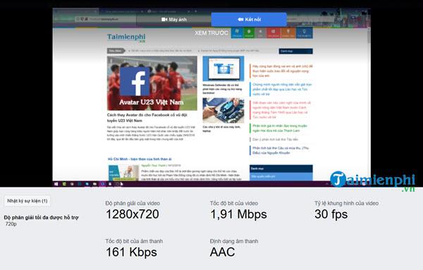 Quay, phát video màn hình máy tính, laptop lên Facebook