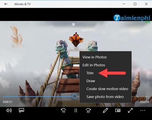 Cách cắt video trên Windows 10 không cần phần mềm 3