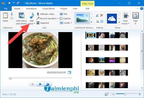 Cách tạo video từ ảnh trên Windows 10 bằng Windows Movie Maker 4