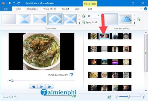 Cách tạo video từ ảnh trên Windows 10 bằng Windows Movie Maker 7