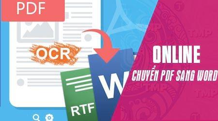 cach chuyen pdf sang word online