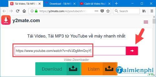 Cách tải nhạc trên Youtube thành MP3 2