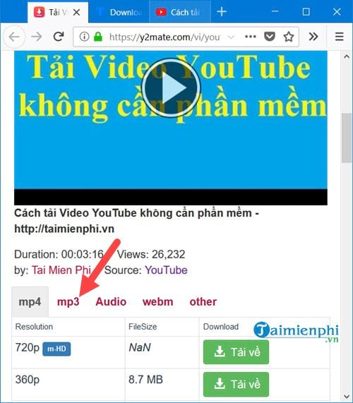 Cách tải nhạc trên Youtube thành MP3 3