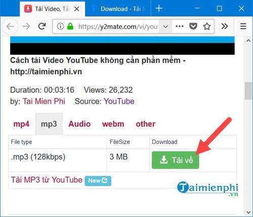Cách tải nhạc trên Youtube thành MP3 4
