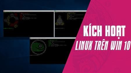 kich hoat windows subsystem for linux tren windows 10 fall creator
