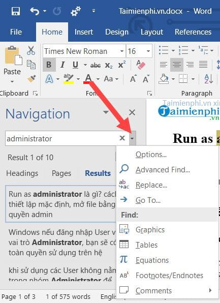 cach su dung navigation pane trong word 4