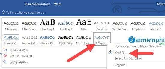 Cách tạo danh mục bảng biểu trong Word tự động 5
