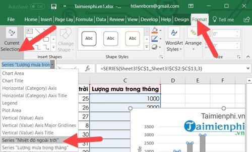 Cách vẽ biểu đồ 2 trục tung trên Excel 7