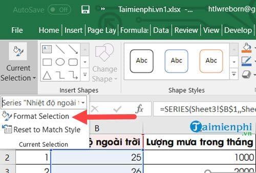 Cách vẽ biểu đồ 2 trục tung trên Excel 8