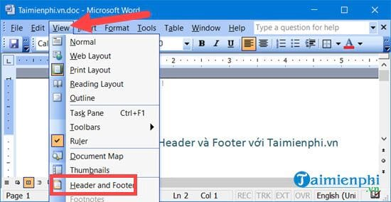 [TaiMienPhi.Vn] Xóa Header và Footer trong Word 2016, 2010, 2007, 2003, 2013