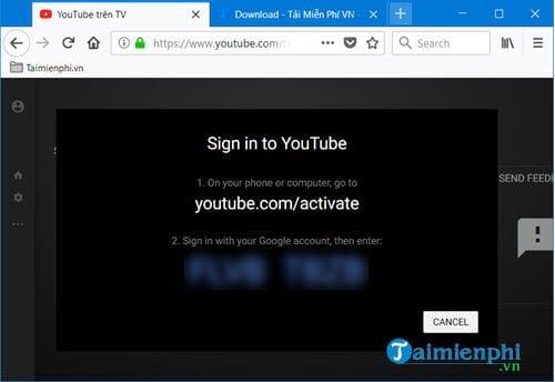 Sử dụng chế độ TV YouTube trên Win 10