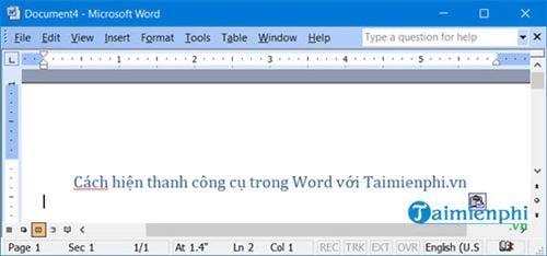 Cách hiện thanh công cụ trong Word 15