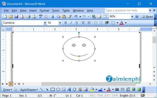Cách lấy thanh công cụ drawing trong Word 10