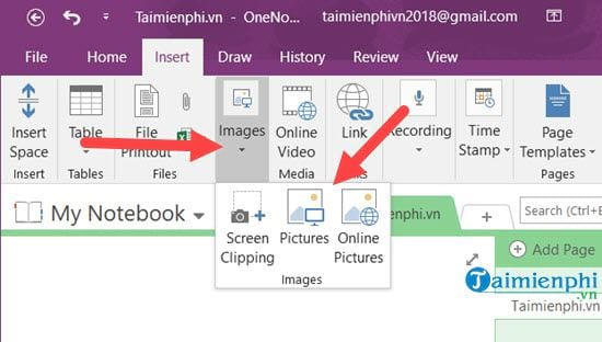 How to switch pictures with onenote 3